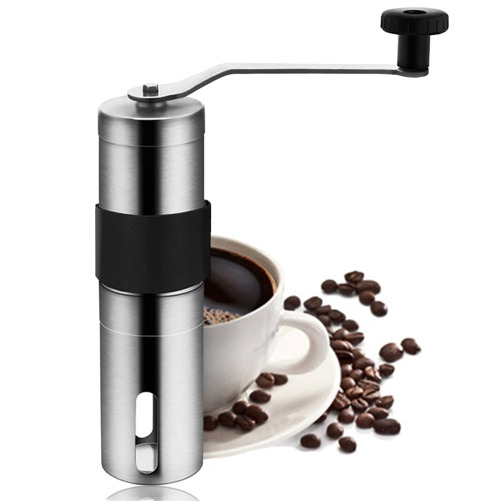 GXL Coffee Grinder, Firlar Premium Manual Coffee Grinder Portable, Stainless Steel Grinder Manual, Best Conical Burr for Precision Brewing, Adjustable Salt Pepper Mill Grinds Beans Spices