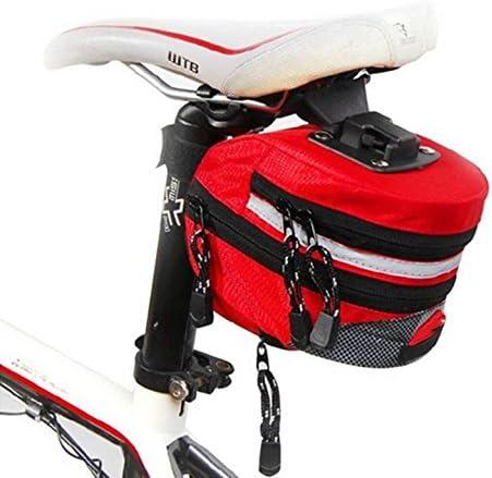 Alforjas para bicicletas silla asiento de montar el equipo al aire libre , red - brand random: Amazon.es: Deportes y aire libre