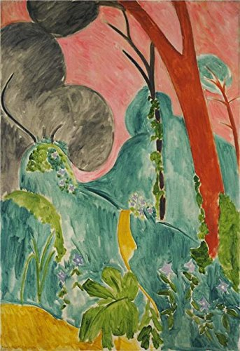 [High Quality Polyster Canvas ,the Cheap But High Quality Art Decorative Art Decorative Canvas Prints Of Oil Painting 'Moroccan Garden 1912 By Henri Matisse', 18x26 Inch / 46x67 Cm Is Best For Basement Decoration And Home Gallery Art And] (Costume Design For Film Courses)