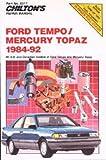 CH8317 Chilton Ford Tempo and Mercury Topaz 1984-1992 Repair Manual