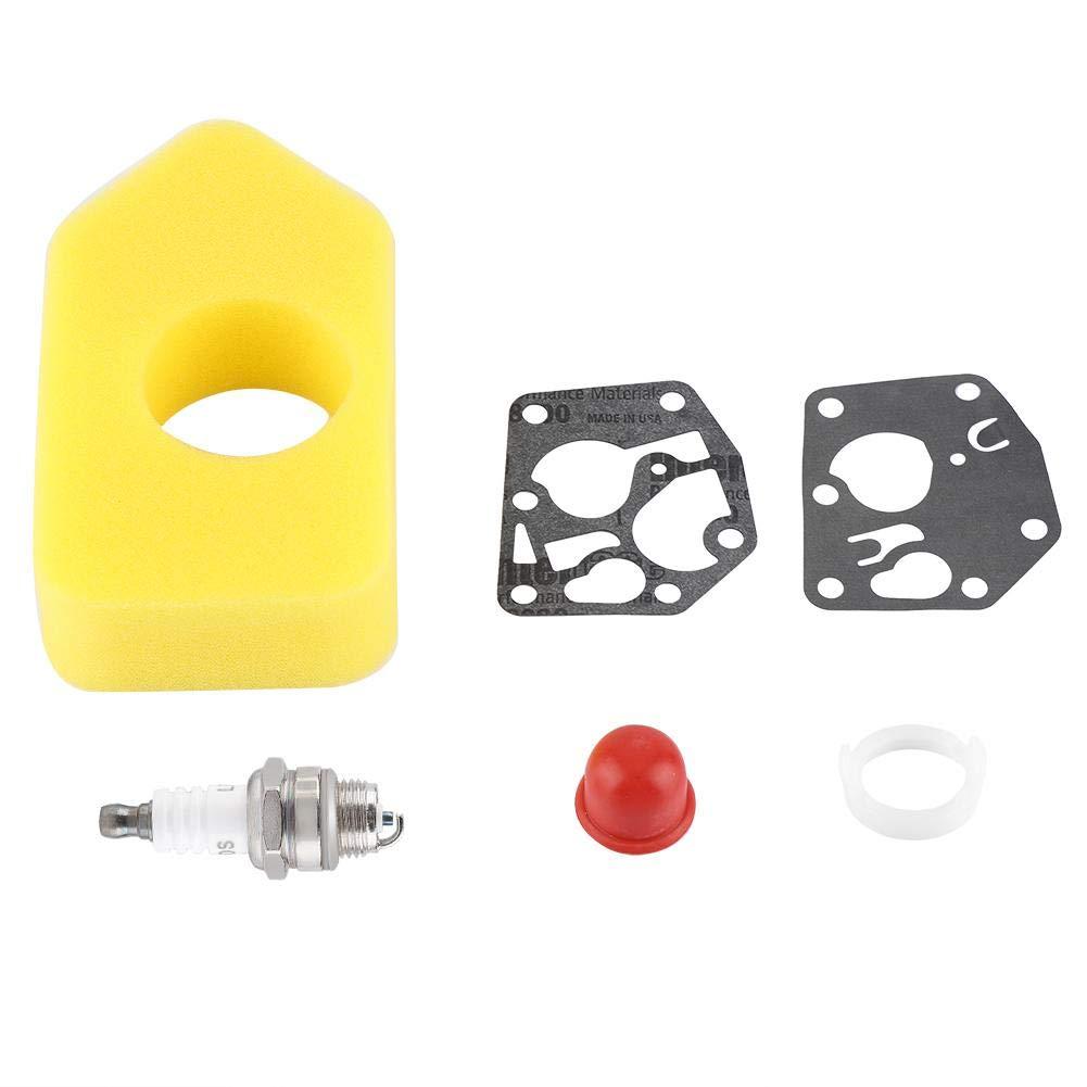 Vergaser Membrandichtung Luftfilter Z/ündkerze Kit f/ür Briggs Stratton Viele kleine Motoren
