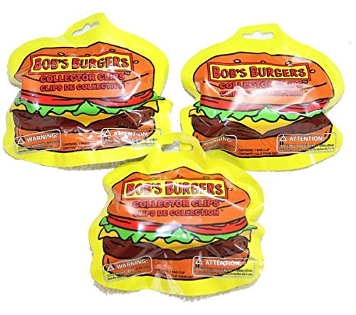 3x Bob's Burgers - Collector Clip Hangers Blind Bags