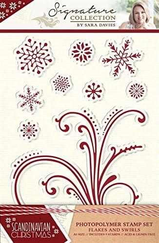 Sara Signature Collection skandinavischen Weihnachten – Stempel – Flocken und wirbelt, transparent