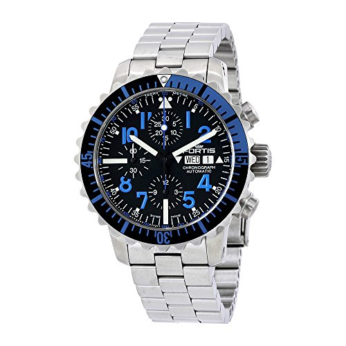 Fortis Marinemaster Blue Chronograph Mens Watch 671.15.45 M