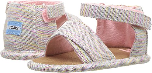 TOMS Kids Baby Girl's Shiloh (Infant/Toddler) Pink Multi Twill Glimmer 1 M US Infant -