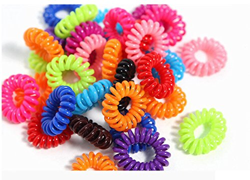 20pcs/lot Telephone Wire Line Cord Invisi Traceless Hair Ring Gum Colored Elastic Hair Band For Girl Hair Scrunchy Children's (Unite Dryer compare prices)