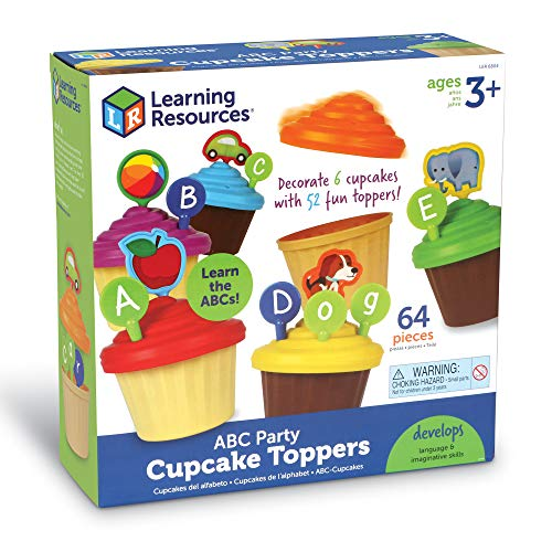51mnL7T5MhL - Learning Resources ABC Cupcake Party Toppers, Early Alphabet Learning, Vocabulary Toy, Ages 3+