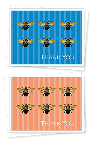 Bumble Bee, Thank You Note Cards - Set of 10 Greeting ()