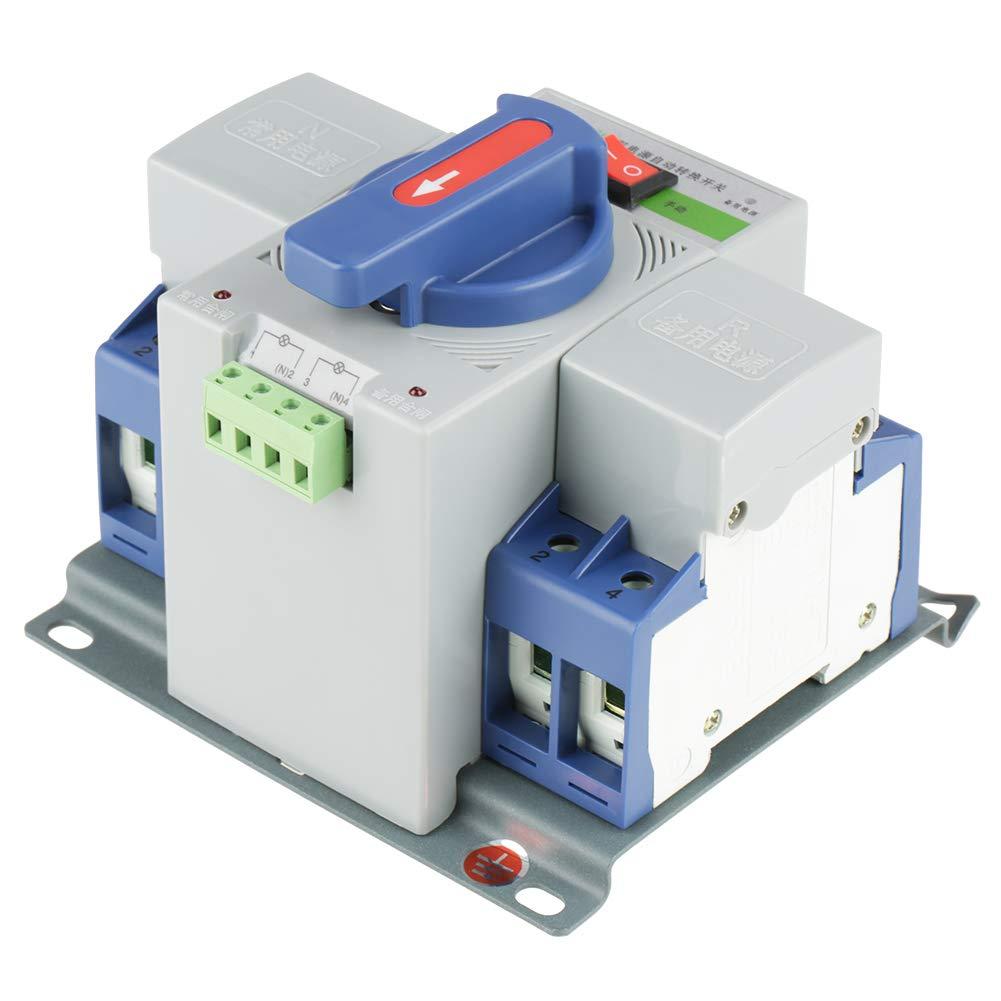 1pc 220V 63A 3P Mini Intelligent Dual Power AutomaticTransfer Switch Circuit Breaker