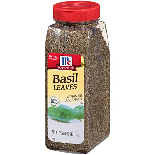 McCormick  Basil Leaves (Dried Basil), 5 oz (Best Store Bought Marinara Sauce)