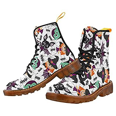 Honey Day House Custom Cartoon Halloween Characters Printed Boots For Women