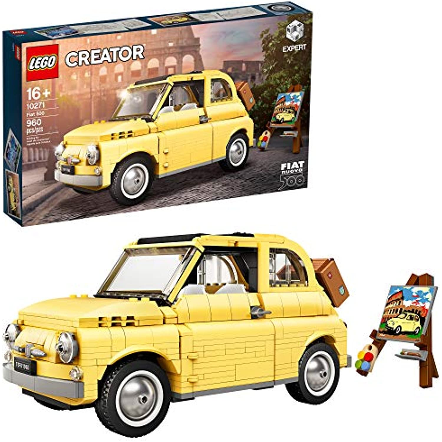 LEGO Creator Expert Fiat 500 10271 Toy Car Building Set for Adults and Fans of Model Kits Sets Idea (960 Pieces)