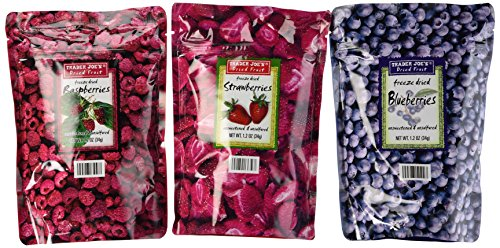 Trader Joe's Freeze Dried Fruit Variety Pack (Blueberry, Strawberry, ()