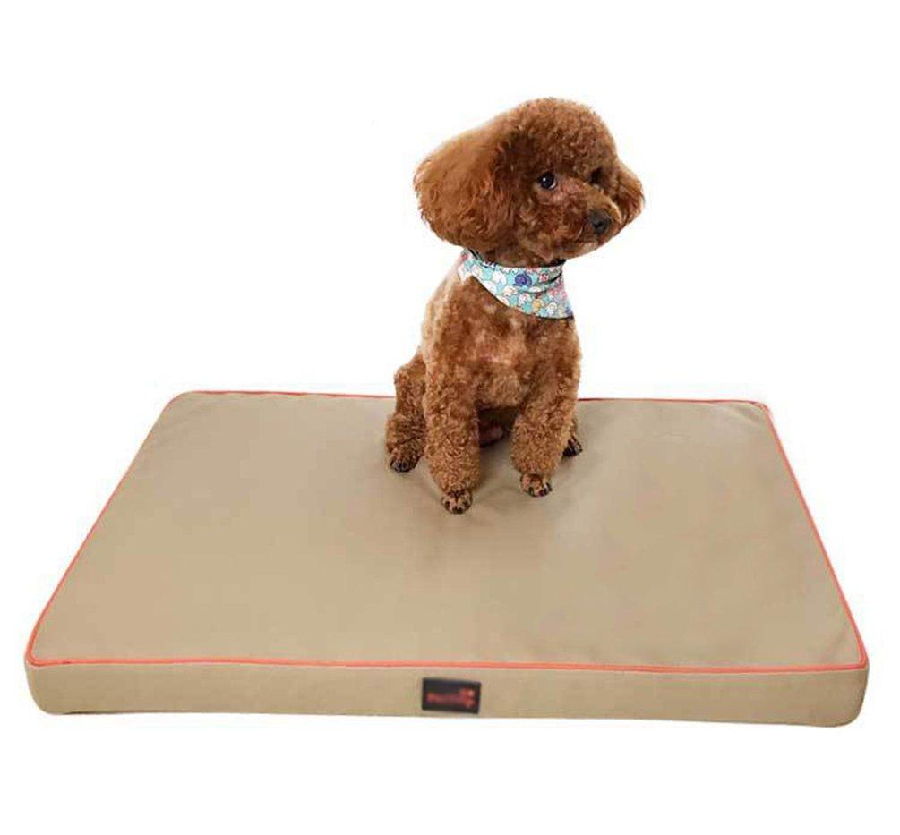Khaki XL  120905.5CM Khaki XL  120905.5CM LvRao Pet Flat Beds Foldable Dogs Cats Cushion Pad Durable Portable Sofa Mattress (Khaki, XL  120  90  5.5CM)