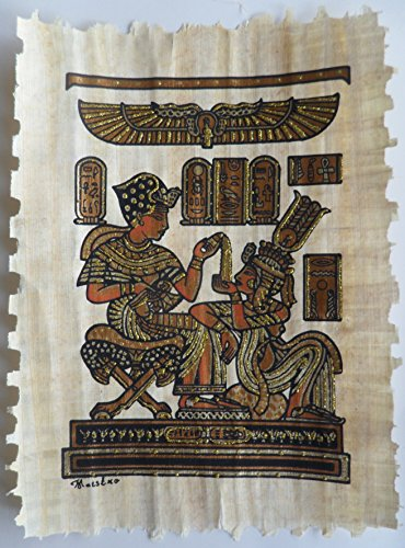 Hand Painted Egyptian Papyrus Painting