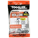 """TOGGLER Toggle TB Residential Drywall Anchor with Screws, Polypropylene, Made in US, 3/8"""" to 1/2"""" Grip Range, For #6 to #14 Fastener Sizes (Pack of 5)"""