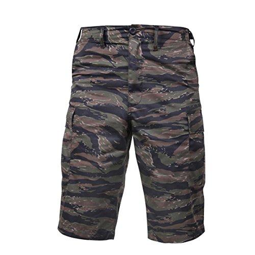 (Rothco Long Style B.D.U Shorts, Tiger Stripe Camo, XL )