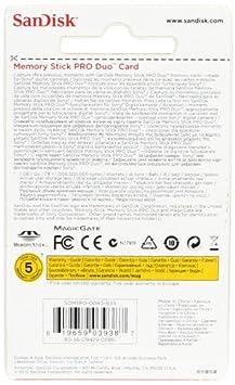SanDisk SDMSPD-008G-B35 Tarjeta de Memoria Memory Stick Pro Duo de 8 GB Negro