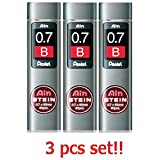 [3 set!!!] Pentel Mechanical pencil core replacement Ain Stein 0.7mm B 40leads×3 C277-B from Japan