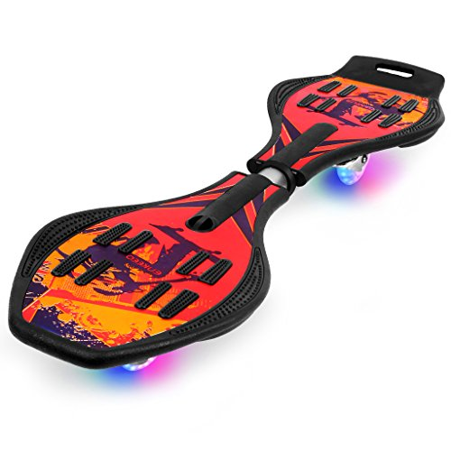 ENKEEO Caster Board with Hand Grip, Illuminating PU Casters and Carrying Pouch, Weight Capacity Up...