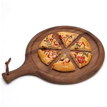 Rectángulo Pizza junta Con mango de madera, Vendimia Bandeja para servir Con cordón de cuero