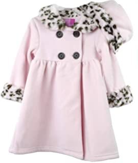b08212202 Amazon.com  Good Lad Toddler Girls Blue Double Breasted Fleece Coat ...