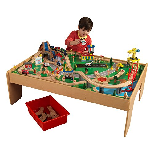 KidKraft Waterfall Mountain Train Set and (Toddler Train Table)