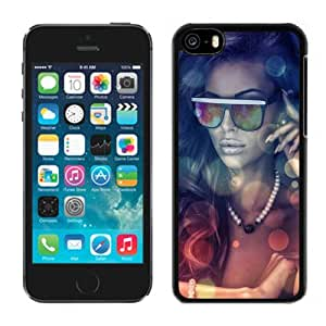 New Beautiful Custom Designed Cover Case For iPhone 5C With Girls Glasses Phone Case
