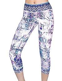 Appleletics Women's Unique Multi-Patterned Yoga Leggings Capri Pants