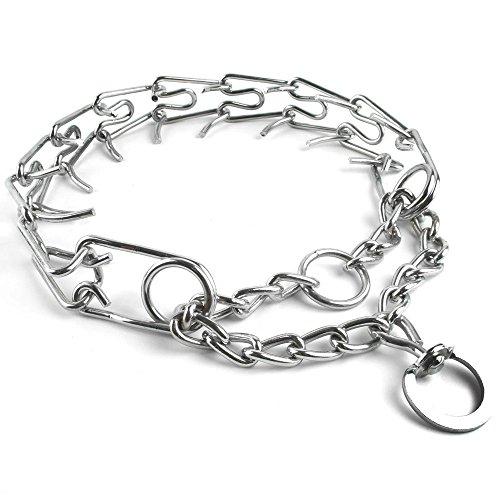 Beirui Chormed Gear Prong Pinch Choke Martingale Training Dog Pet Chain Collar 2mm3/4