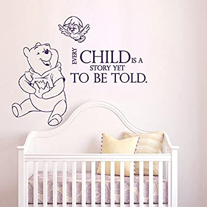 Amazoncom Wall Decals Quotes Winnie The Pooh Every Child Is A