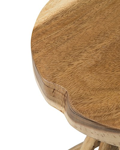 East At Main Kenton Teakwood Round Accent Table, Natural, (14x14x20) by East At Main (Image #4)