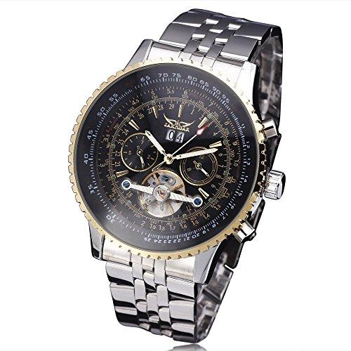 WINNER-TOP-Pilot-Men-Mechanical-Wrist-Watch-Stainless-steel-Strap-Tourbillion-Date-Display-Multifunction
