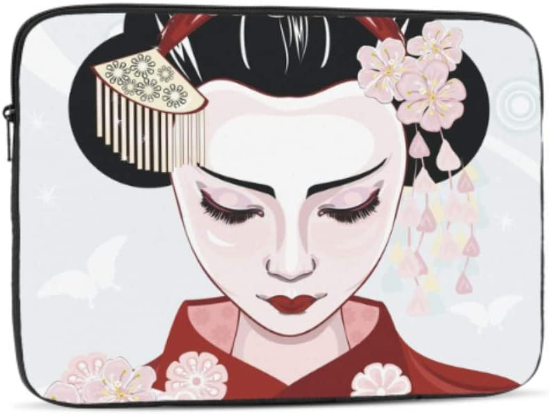 Cute Cartoon Geisha with Japan Travel Pattern Neoprene Sleeve Pouch Case Bag for 11.6 Inch Laptop Computer Designed to Fit Any Laptop//Notebook//ultrabook//MacBook with Display Size 11.6 Inches