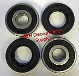 Front Wheel Axle Tube Bearings & Seals Kit for Honda ATC 200 & ATC 200X 3-wheel