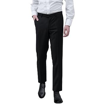 e667375bba Festnight Pantalones de Vestir para Hombre Talla 48 Negro  Amazon.es  Hogar