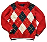 Betusline Baby Boy Girl Plaid Knitwear Sweater Coat Pullover Red 3 Years