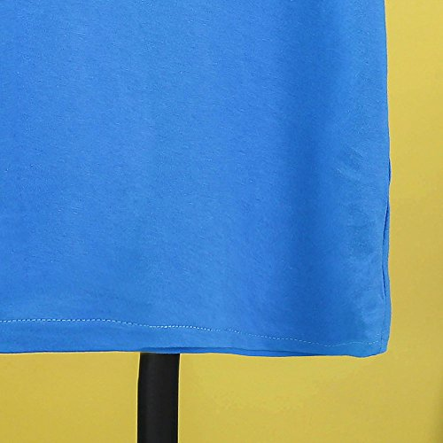 Kids Cheap T Shirts,Boys Solid Candy Color Tee Tops Little Girls T Shirts Pajama Shirts.(Blue,100) by Wesracia (Image #4)