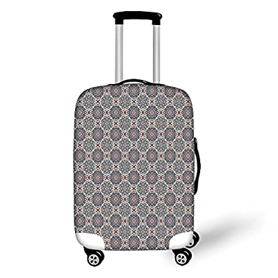 Travel Luggage Cover Suitcase Protector,Coffee Morning Muffins Milk Bread Home C