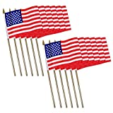 Universal Souvenir Mini USA Patriotic American US Stick Flag (4×6) Pack of 12 Review