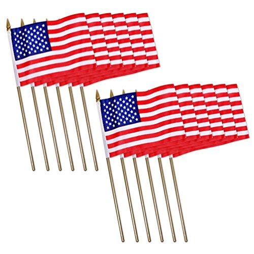 Universal Souvenir Mini USA Patriotic American US Stick Flag
