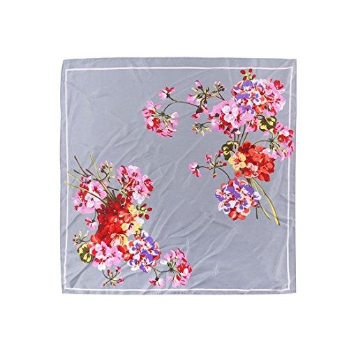 Sciarpa forma scialle di quadrato di motivo grigio stampate eleganti scialle di di moda collo con donne Adeshop Sciarpa a di quadrato faq475I