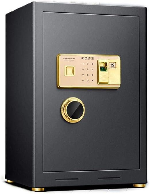 YAzNdom Caja Fuerte Electronic Acero Seguro con el Teclado y la Huella Digital de desbloqueo for Ministerio del Hotel joyería Efectivo de Almacenamiento para Home Office Hotel: Amazon.es: Hogar