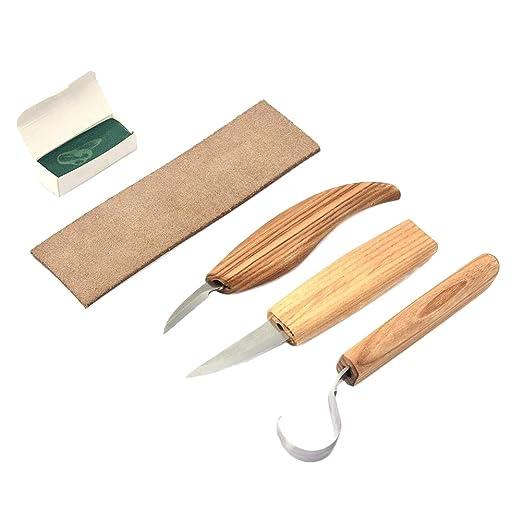 Schimer - Juego de 3 Cuchillos para tallar Madera para ...