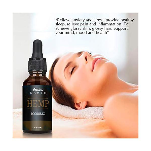 Precious Earth Hemp Natural Oil (60000MG-60ML), High Strength Formula, Rich in Omega 3-6-9 & Vitamins, Vegan Friendly