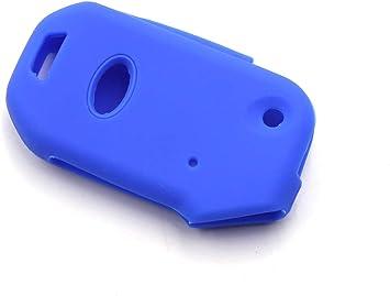 Blue LIGHTKOREA fob Remote Flip Folding Key Case Protector Silicone Cover Compatible with Kia 2019 2020 Sportage Cerato Forte Sports GT Sorento Soul NIRO Telluride