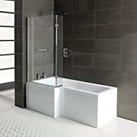 Home Standard L Shape Shower Bath