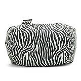 Big Joe 98-Inch Bean Bag, Zebra