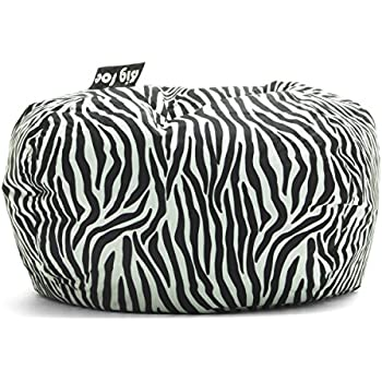 Astonishing Big Joe 98 Inch Bean Bag Zebra Onthecornerstone Fun Painted Chair Ideas Images Onthecornerstoneorg