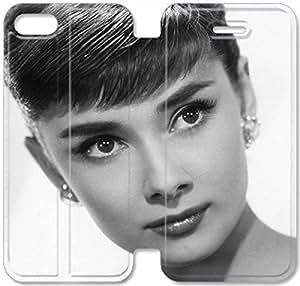 Premium Flip Ultra Slim Audrey Hepburn-11 iPhone 5 5S Leather Flip Case